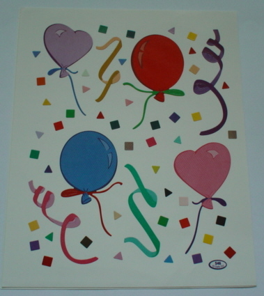 2 Sheets Balloon Stickers