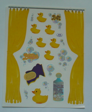 2 Sheets Bathtime Ducks