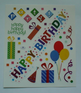 2 Sheets Birthday Party Stickers
