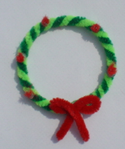Chenille - Wreath Bright Green