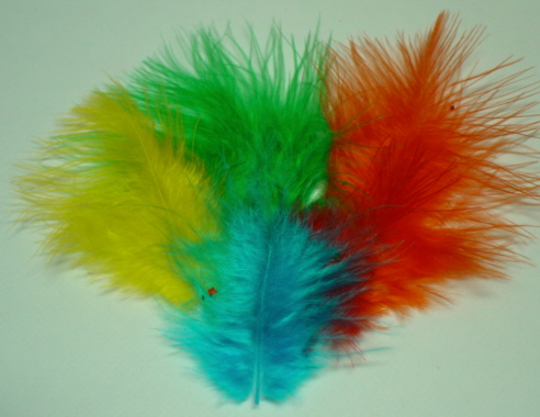 Marabou Feathers-Mixed Colours-Small