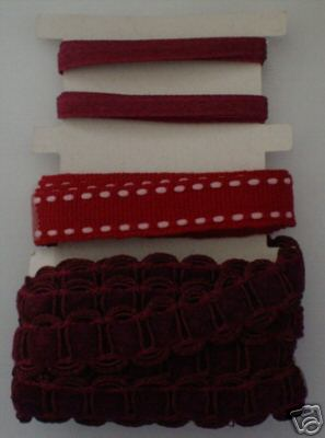 Burgundy Ribbons / Braids Set