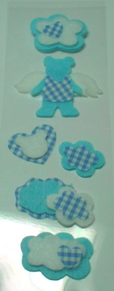 Fairy Land 3D Stickers -Blue Baby Bears