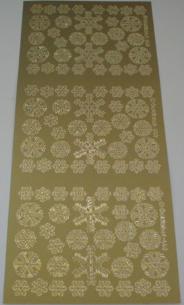 Peel Offs - Gold Christmas Mixed Snowflakes