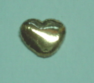 100 Approx Gold Padded Hearts