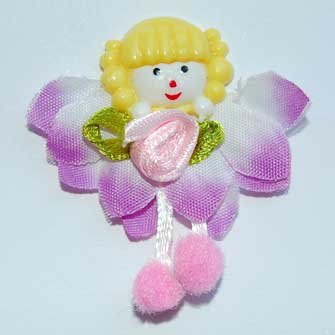 3 Lilac Fairy Flower Embellishments