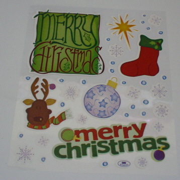 2 Sheets Merry Christmas Stickers