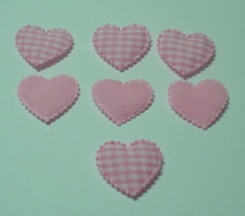 25 Gingham/Pink Hearts
