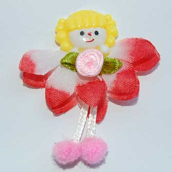 3 Red Fairy Flower Embellishments