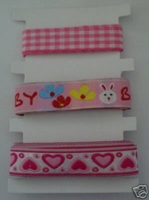 Baby Pink Ribbons / Braids Set