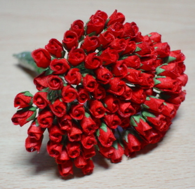 100 Roses Bud  - Red