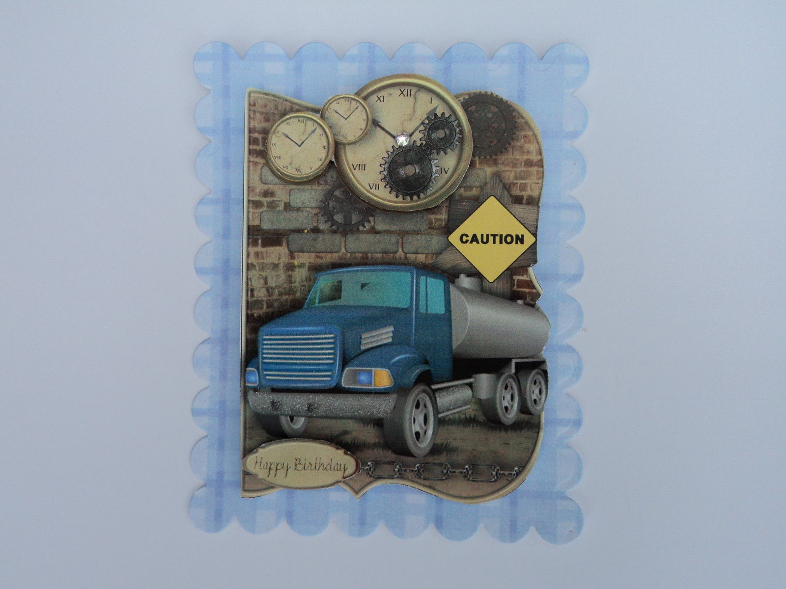 PACK 2 TRUCKING TIME TOPPER EMBELLISHMENTS FOR CARDS AND CARDS