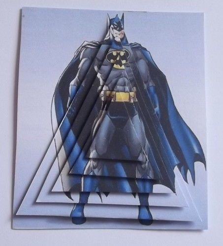 PK 2 PYRAMID BATMAN EMBELLISHMENT TOPPERS 4 CARDS