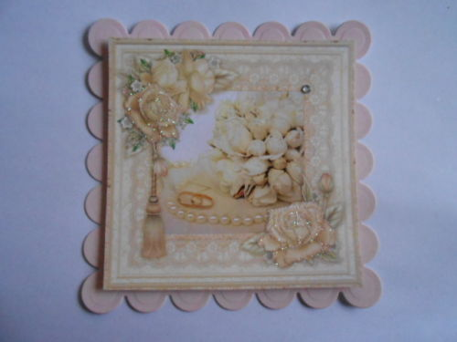 PACK 2 WEDDING RINGS & ROSES TOPPERS FOR CARDS & CRAFTS