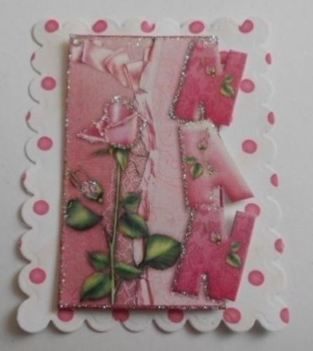 PACK 2 NAN ROSES EMBELLISHMENT TOPPERS FOR CARDS AND CRAFTS