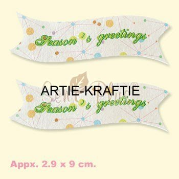 Pack 10 Seasons Greetings Banners