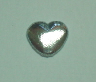 100 Approx Silver Padded Hearts