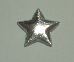 100 Approx Silver Padded Stars
