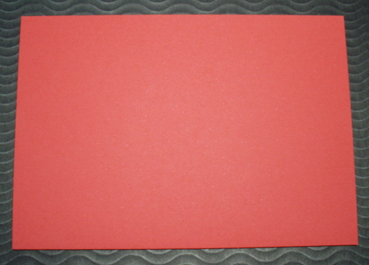 Red Cards and matching Envelopes - Square Pack of five