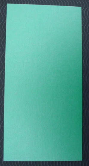 Tall Pearlescent cards and matching envelopes Green pack of five