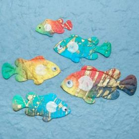 6 Pretty Fish Die-Cuts