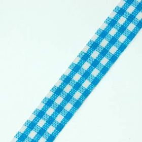 6 Yards Blue Gingham Ribbon