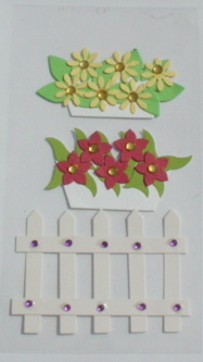 3d. Handmade Stickers -Window boxes and Gate